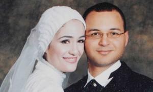 Marwa El-Sherbini dan suaminya Elvi Ali Okaz