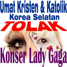 umat-kristen-korea-tola-lady-gaga photo